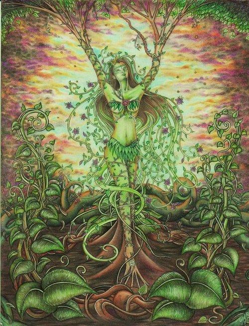 woman Goddess Gaia Paganism pagan